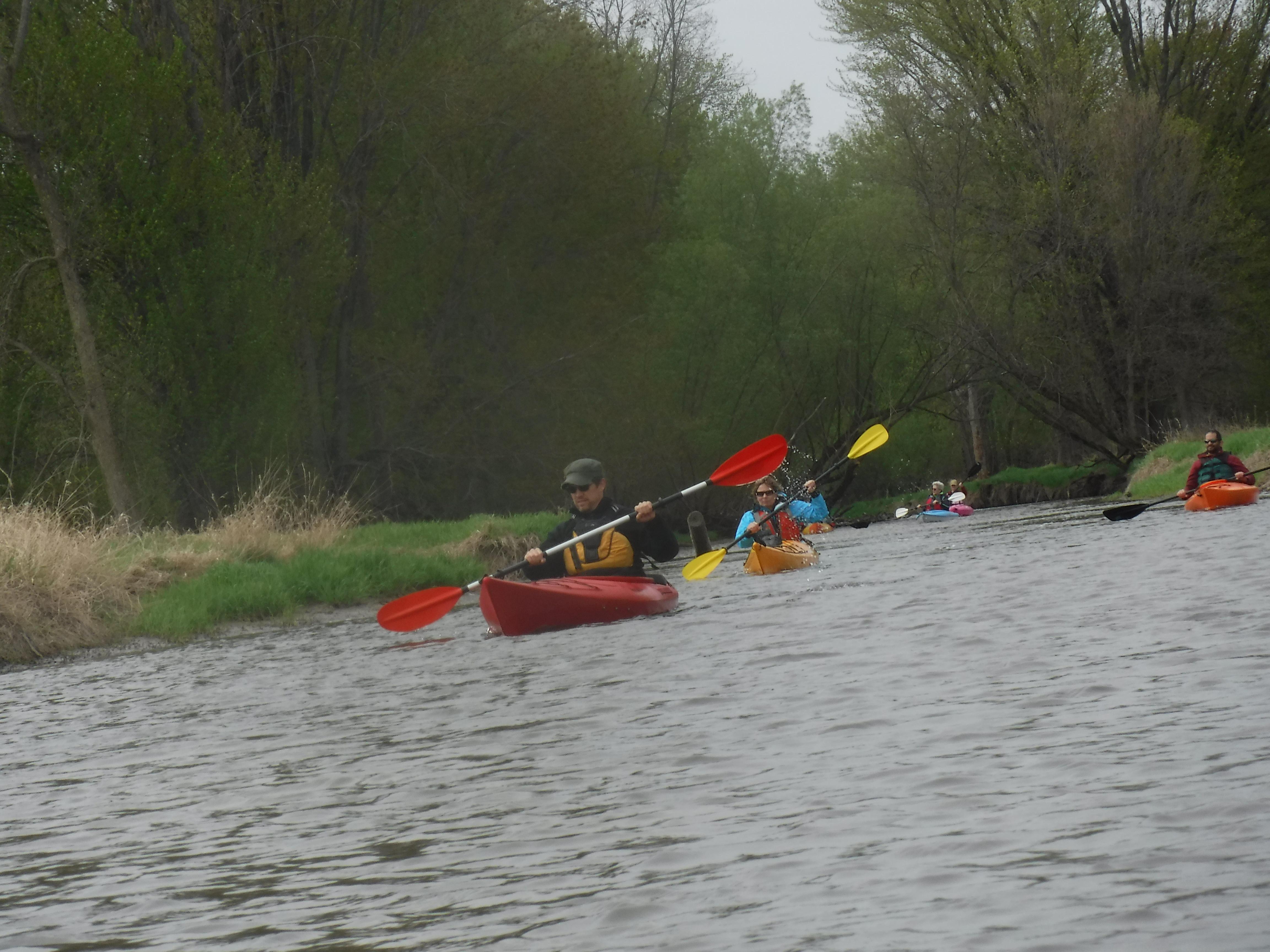 Guided paddle trip along Cedar Creek, outside Cedarburg, Wi
