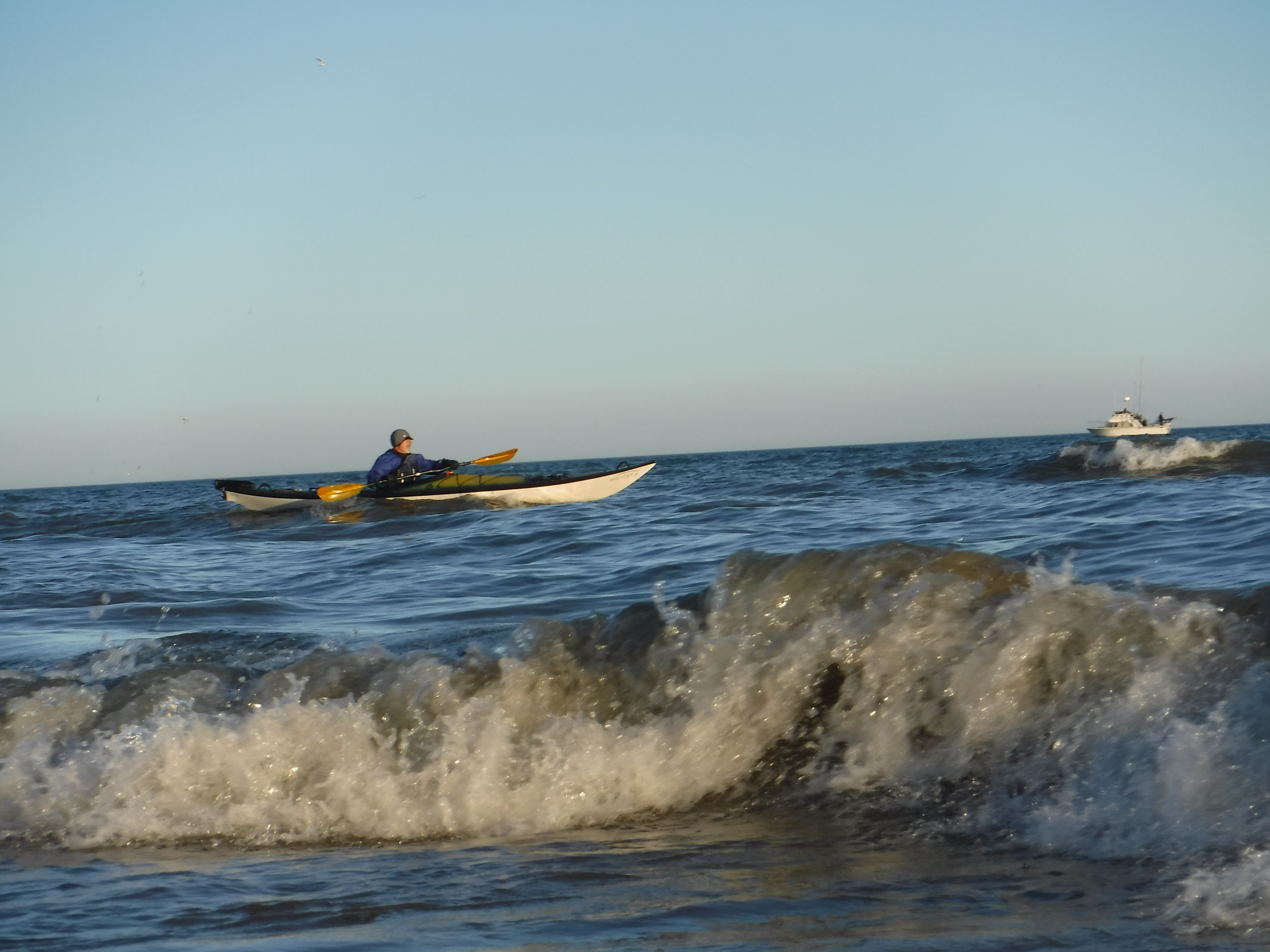 Evening Lake michigan paddle